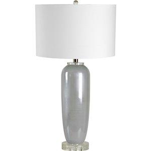 Lampe de Table Carlen de Notre Dame Design, 29 po, abat-jour en tissu, bleu
