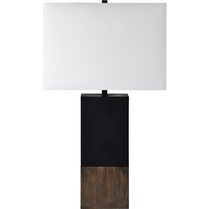 Lampe de Table Maro de Notre Dame Design, 20 po, abat-jour en tissu, brun