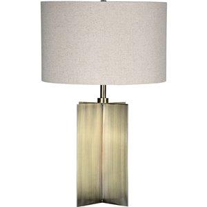 Lampe de Table Scotia de Notre Dame Design, 24, 5 po, abat-jour en tissu, laiton