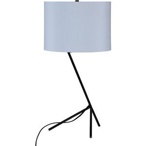 Lampe de Table Hollis de Notre Dame Design, 27,5 po, abat-jour en tissu, gris