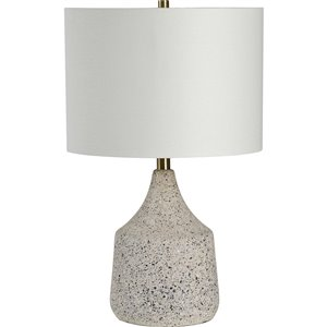 Lampe de Table Ontario de Notre Dame Design, 22 po, abat-jour en tissu, brun