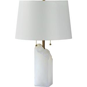 Lampe de Table Walton de Notre Dame Design, 26 po, abat-jour en tissu, blanc