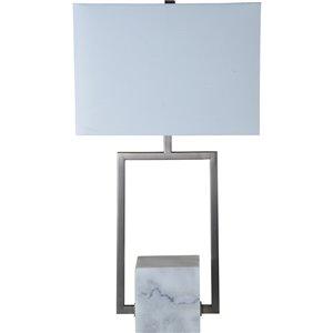 Lampe de Tablej Townley de Notre Dame Design, 25,5 po, abat-jour en tissu, noir