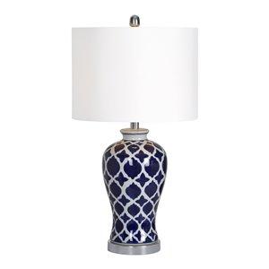 Lampe de Table Odni de Notre Dame Design, 14 po, abat-jour en tissu