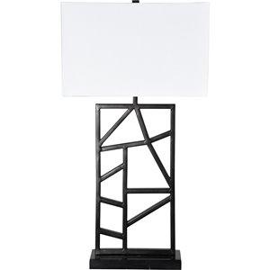 Lampe de Table August de Notre Dame Design, 29,5 po, abat-jour en tissu, gris