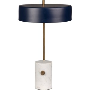 Notre Dame Design Monte 20.75-in Brass Standard 3-Way Table Lamp with Metal Shade