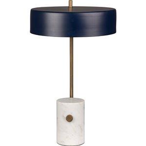 Lampe de Table Monte de Notre Dame Design, 20,75 po, abat-jour en métal, laiton