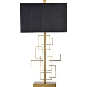Lampe de Table Sabrillo de Notre Dame Design, 29,5 po, abat-jour en soie, laiton