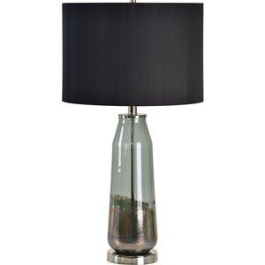Lampe de Table Carrin de Notre Dame Design, 29,5 po, abat-jour en tissu, noir