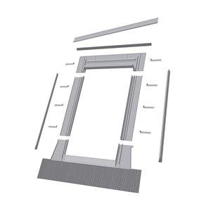 Solin à relief élevé EHW pour fenêtre avec accès au toit de Fakro, compatible avec modèle FWU3746, 38,5po x 47,75po