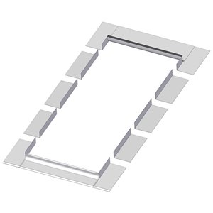 Solin EL pour puits de lumière cadre intégré de Fakro, compatible avec modèle FX/FV/FVE/FVS - 806, 44po x 46po