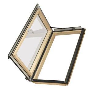 Fakro Deck Mount Left Opening Roof Access Window- 22.25-in x45.25-in - Grey