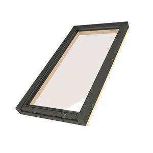 Puits de lumière fixe en verre trempé sur cadre de Fakro, 30po x 38,13po, gris
