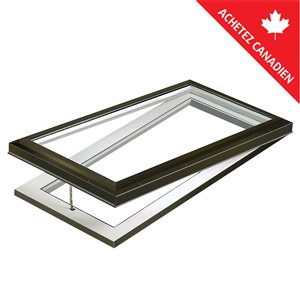 Columbia Triple Pane Glass Curb Mount Venting Skylight- 22.5-in x46.5-in - Brown