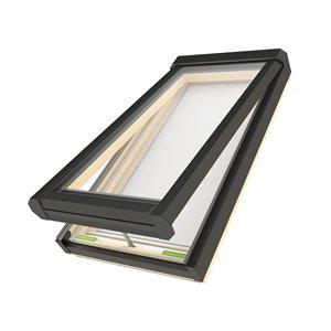 Puits de lumière ouverture électrique en verre laminé sur cadre de Fakro, 44po x 46po, gris