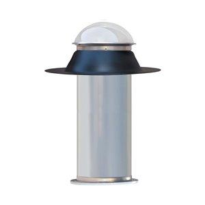 Tube de lumière rigide Columbia, panneau double en acrylique, 10 po x 48 po, ensemble plat, noir
