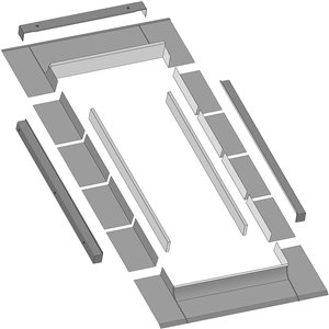 Solin thermo pour puits de lumière cadre intégré fixe de Fakro, compatible avec modèle FX106, 14.5po x 46po