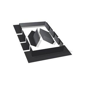 Ensemble de solins noirs de Columbia, compatible avec les puits de lumière fixes montés sur cadre, 52po, noir