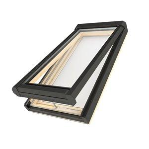 Puits de lumière ouvrant en verre laminé sur cadre de Fakro, 21po x 70.5po, gris