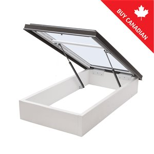 Columbia Tempered Glass Roof Access Hatch- 30.5-in x30.5-in - Brown