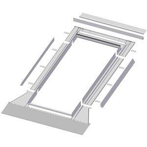 Solin à relief élevé EH pour puits de lumière de Fakro, compatible avec les modèles FX/FV/FVE/FVS - 504/506/508
