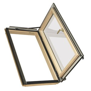 Fenêtre avec accès au toit ouverture à droite de Fakro, 38,5 po x 47,75 po, gris