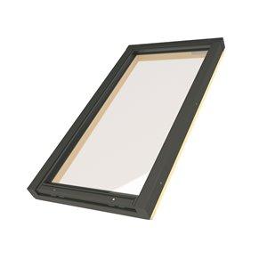 Puits de lumière fixe en verre trempé sur cadre de Fakro, 21po x 46po, gris