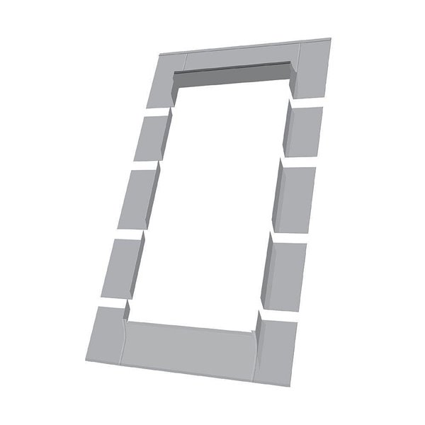 Solin ELW pour fenêtre avec accès au toit de Fakro, compatible avec modèle FWU2446, 22,25po x 45,25po