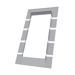 Fakro ELW Step Flashing Kit for Roof Egress Window Compatible with FWU2446 - 22.25-in x45.25-in