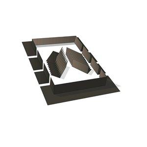 Ensemble de solins bruns de Columbia, compatible avec les puits de lumière fixes montés sur cadre, 52po