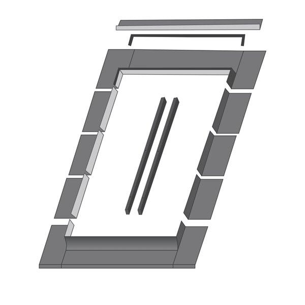 Solin ELN pour fenêtre de toit de Fakro, compatible avec modèle FTP/FPP10, 45.25po x 46,88po
