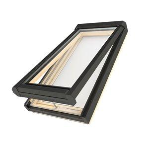 Puits de lumière ouvrant en verre laminé sur cadre de Fakro, 30po x 38,13po, gris