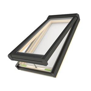 Puits de lumière ouverture électrique en verre laminé sur cadre de Fakro, 21po x 46po, gris