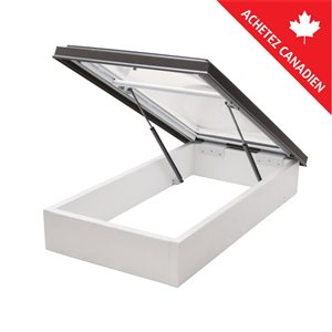 Columbia Acrylic Double Dome Roof Access Hatch- 30.5-in x46.5-in - Brown
