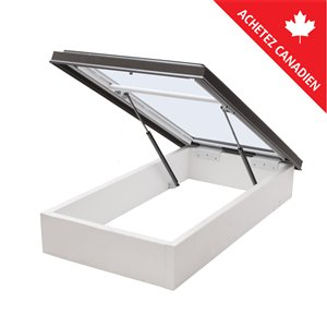 Columbia Tempered Glass Roof Access Hatch- 30.5-in x46.5-in - Brown