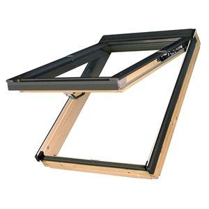 Fenêtre de toit projection en verre laminé sur cadre de Fakro, 22po x 46,88po, gris