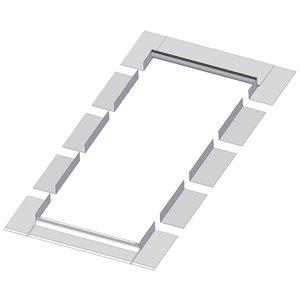 Solin EL pour puits de lumière avec cadre intégré de Fakro, compatible avec modèle FX/FV/FVE/FVS106, 14po x 38po