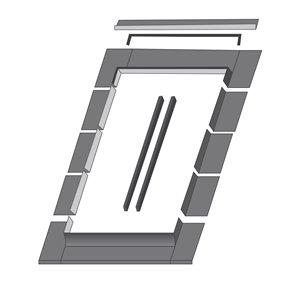 Solin ELN pour fenêtre de toit de Fakro, compatible avec modèle FTP17, 53po x 55,5po