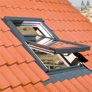 Fenêtre de toit pivotante en verre laminé de Fakro, 31po x 55,5po, gris