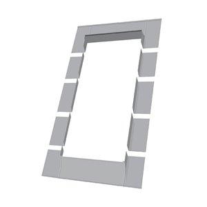 Solin ELW pour fenêtre avec accès au toit de Fakro, compatible avec modèle FWU3746, 38,5po x 47,75po