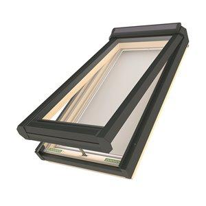 Puits de lumière ouverture à l'énergie solaire en verre laminé sur cadre de Fakro, 30po x 38.13po, gris