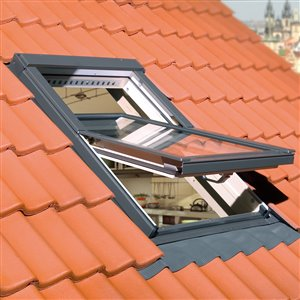 Fenêtre de toit pivotante en verre laminé de Fakro, 22po x 46,88po, gris