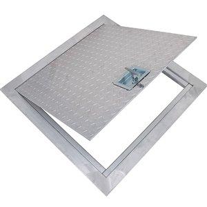 Trappe de plancher en aluminium plaqué diamant de Best Access Doors, 24po x 24po, blanche