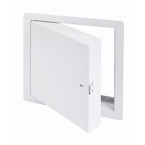 Panneau d'accès isolé, homologué contre le feu de Best Access Doors en métal, 18po x 18po, blanc