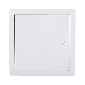 Panneau d'accès isolé coupe-feu avec ouverture vers le haut de Best Access Doors en métal, 24po x 24po, blanc