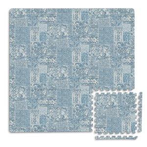 Tuile de mousse emboîtable Bazaar de FloorPops, intérieur, 3 pi x 3 pi, bleu