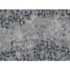 Murale non encollée Graphic d'Engblad & Co, 143 po x 105,6 po, gris/noir