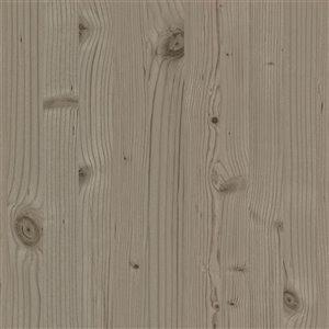 Papier peint non encollé et non tissé Uinta Stones & Woods d'Advantage, effet bois, 56,4 pi², taupe