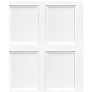 Papier peint non encollé et non tissé Leeds Brewster Essentials d'Advantage, effet bois, 56,4 pi², blanc cassé