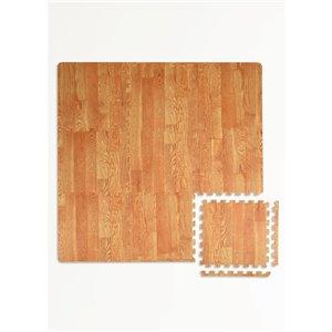 Tuile de mousse emboîtable Vineyard de FloorPops, intérieur, 3 pi x 3 pi, brun